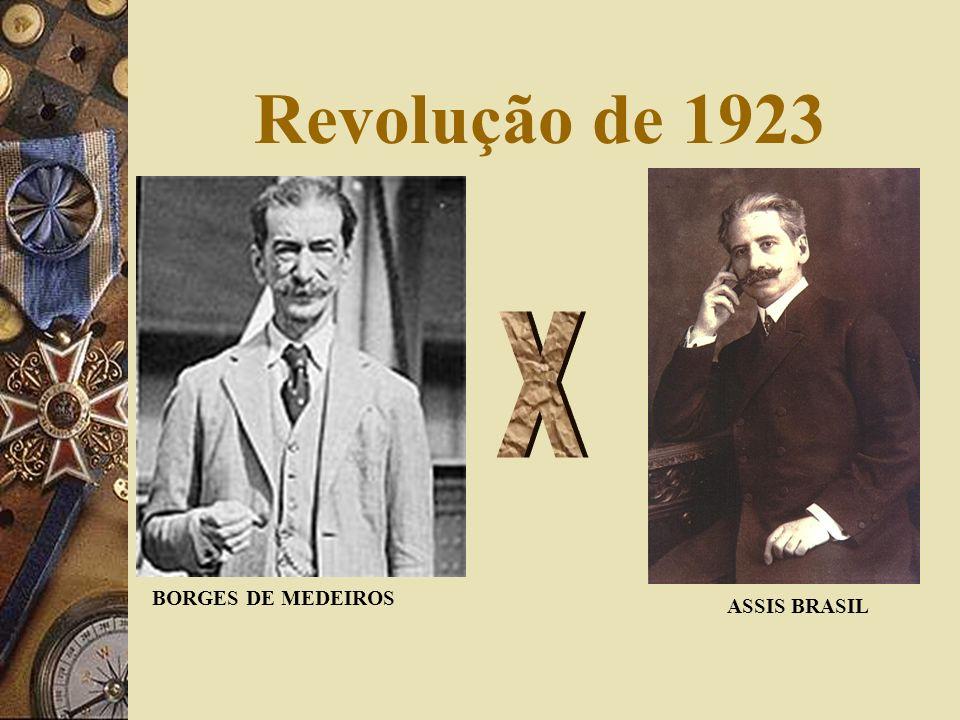 Revolução de 1923 X BORGES DE MEDEIROS ASSIS BRASIL