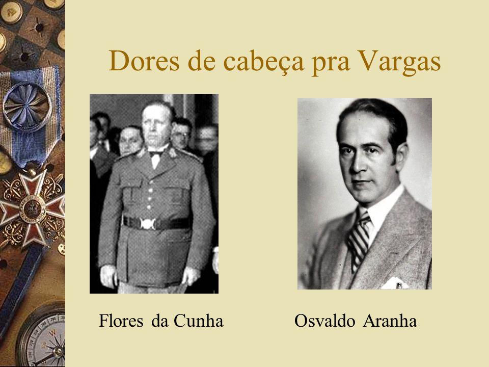 Dores de cabeça pra Vargas