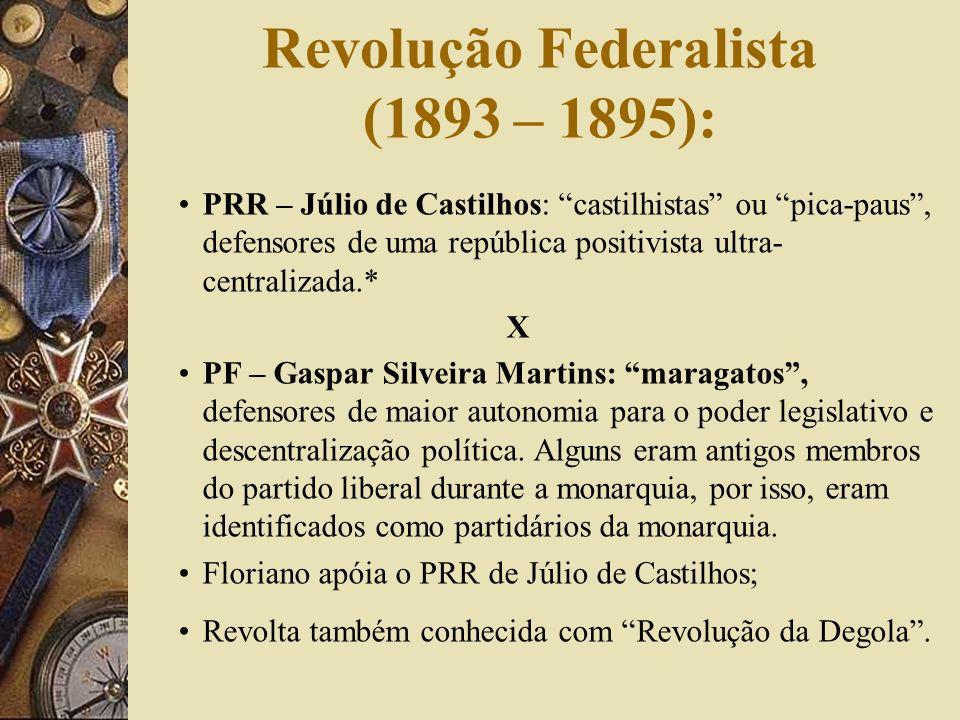 Revolução Federalista (1893 – 1895):