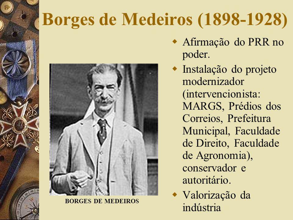 Borges de Medeiros (1898-1928) Afirmação do PRR no poder.