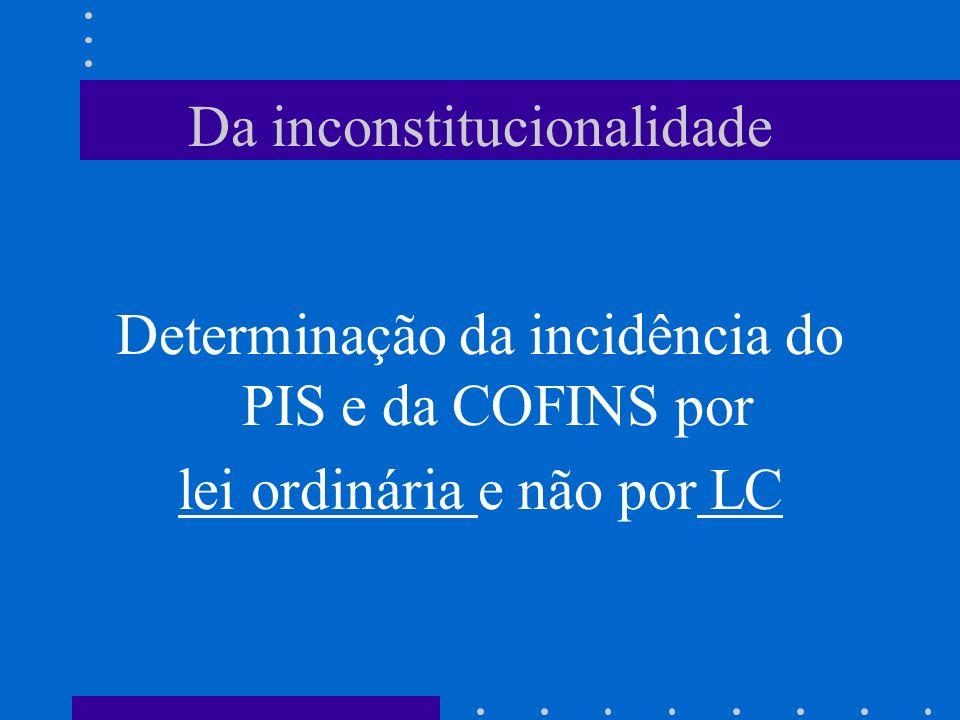 Da inconstitucionalidade
