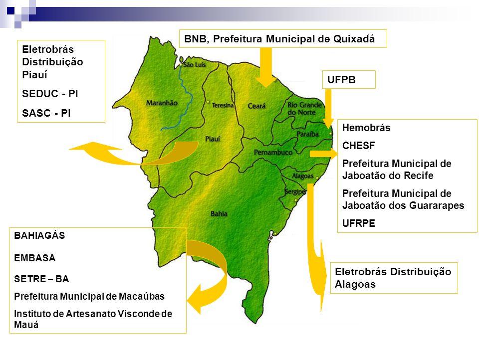 BNB, Prefeitura Municipal de Quixadá Eletrobrás Distribuição Piauí