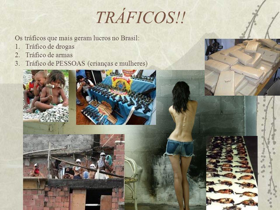 TRÁFICOS!! Os tráficos que mais geram lucros no Brasil: