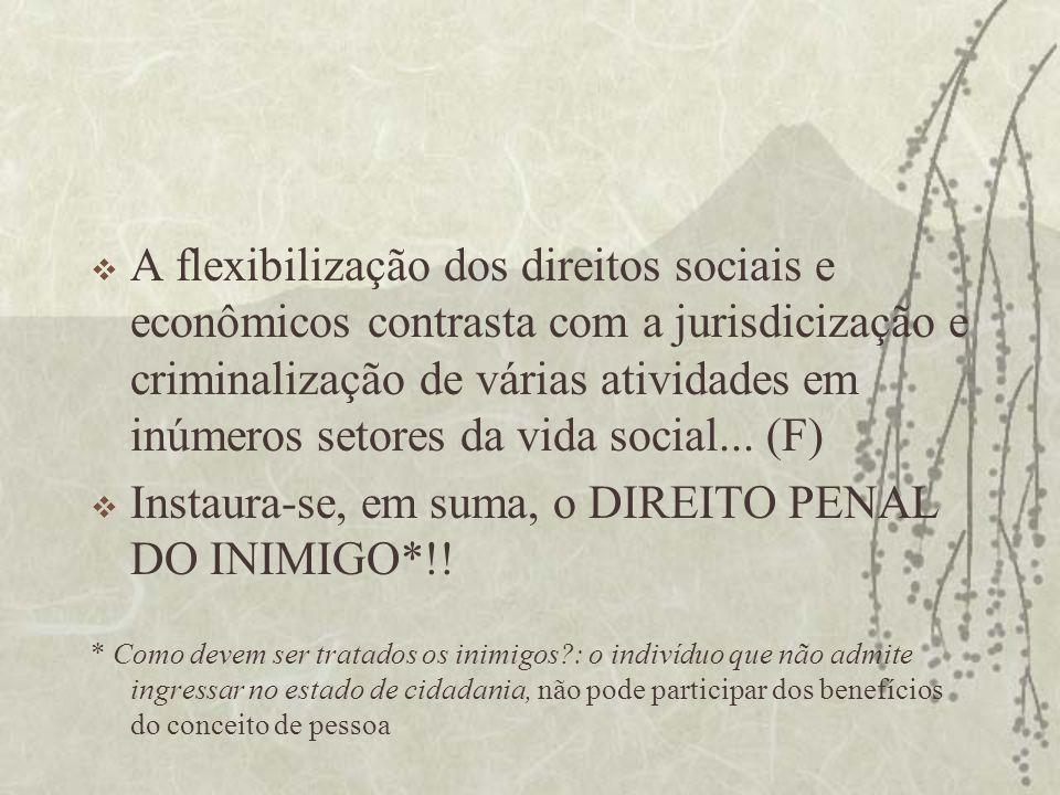 Instaura-se, em suma, o DIREITO PENAL DO INIMIGO*!!