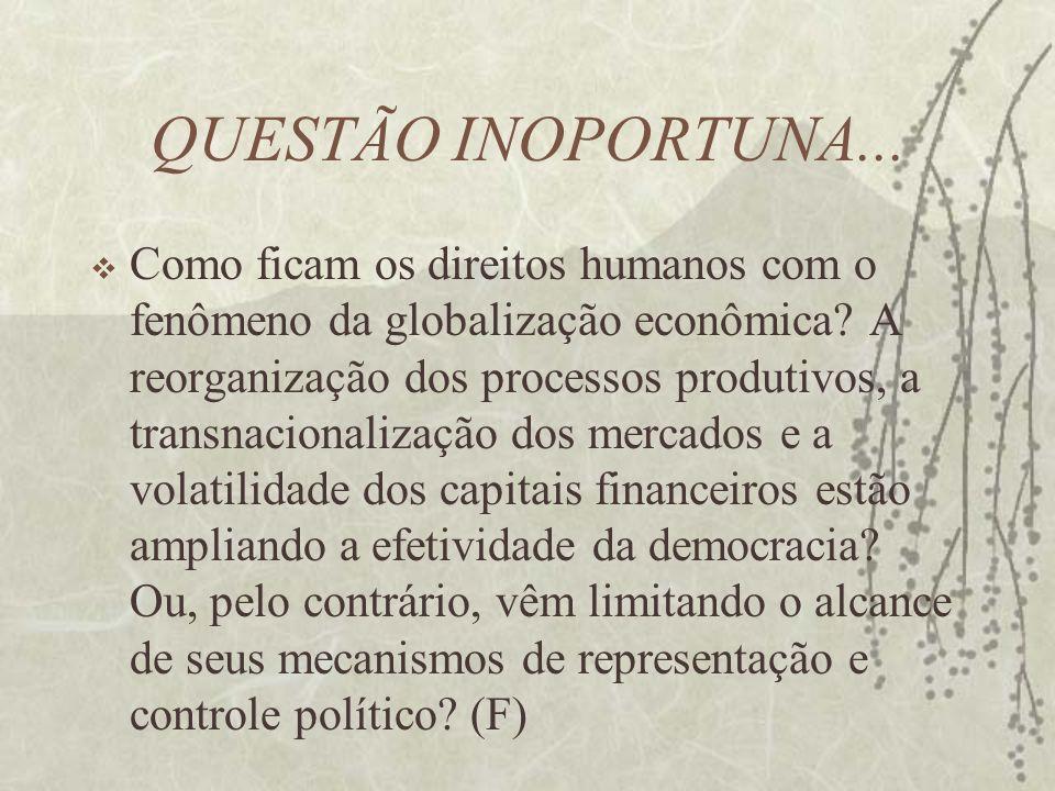 QUESTÃO INOPORTUNA...