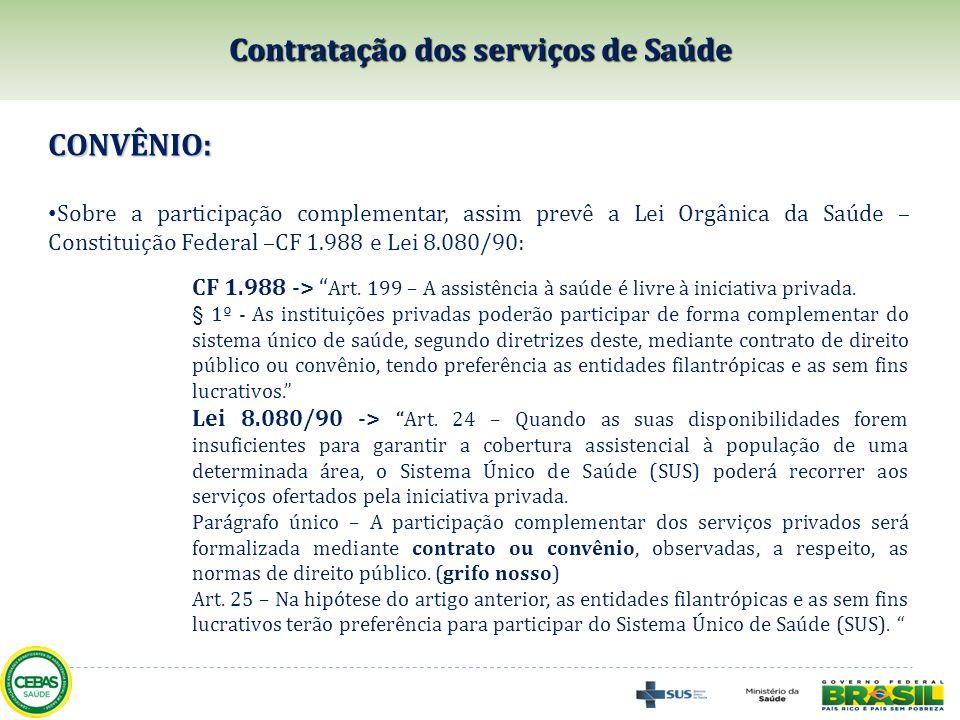 Contratação dos serviços de Saúde