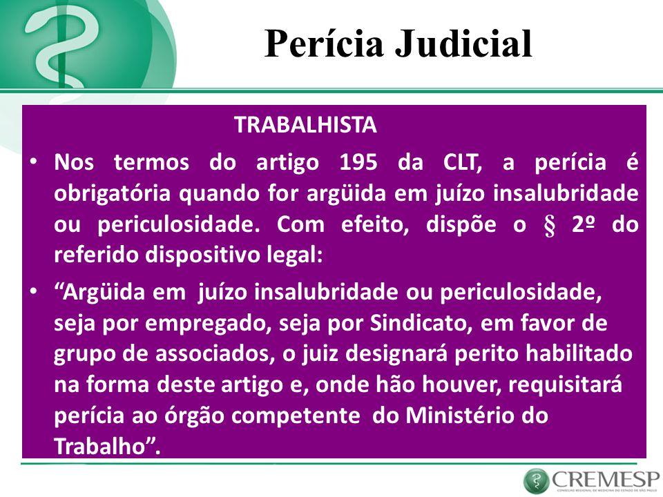 Perícia Judicial TRABALHISTA