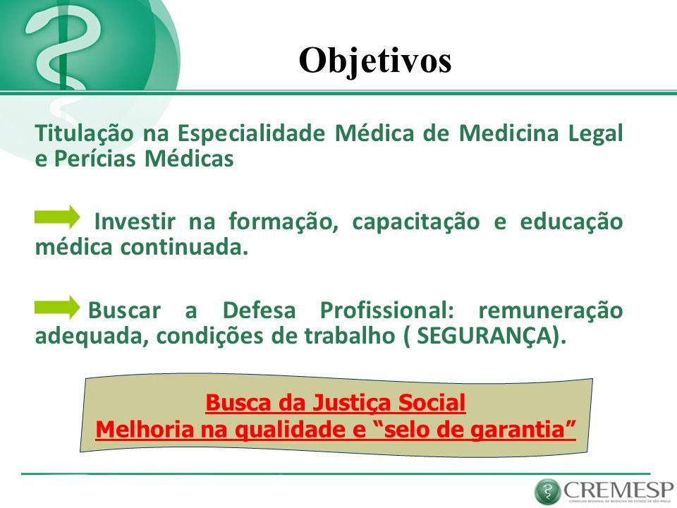 Busca da Justiça Social Melhoria na qualidade e selo de garantia