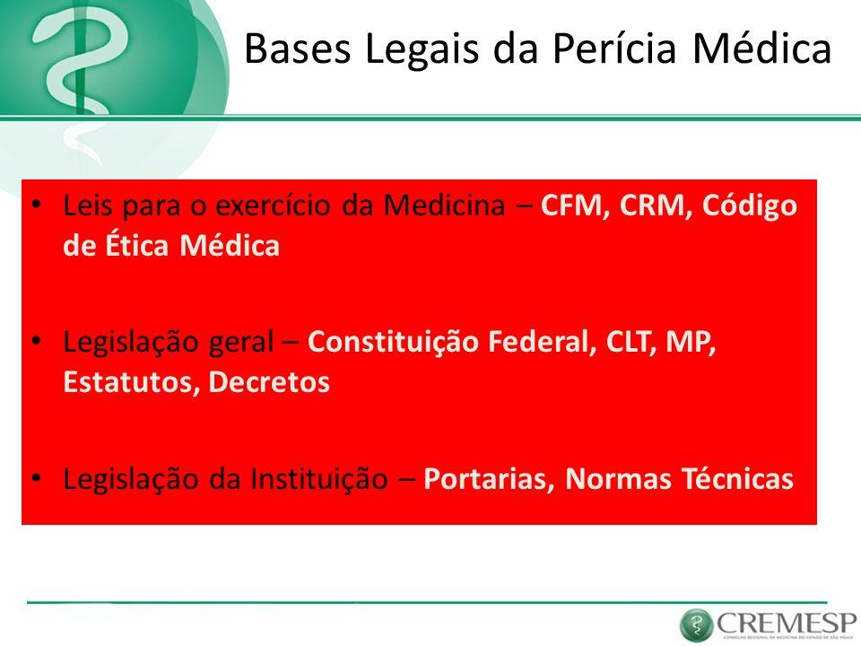 Bases Legais da Perícia Médica