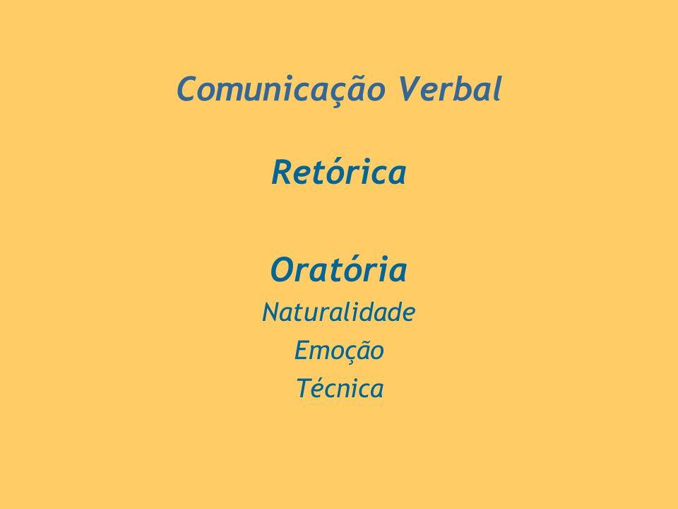 Comunicação Verbal Retórica