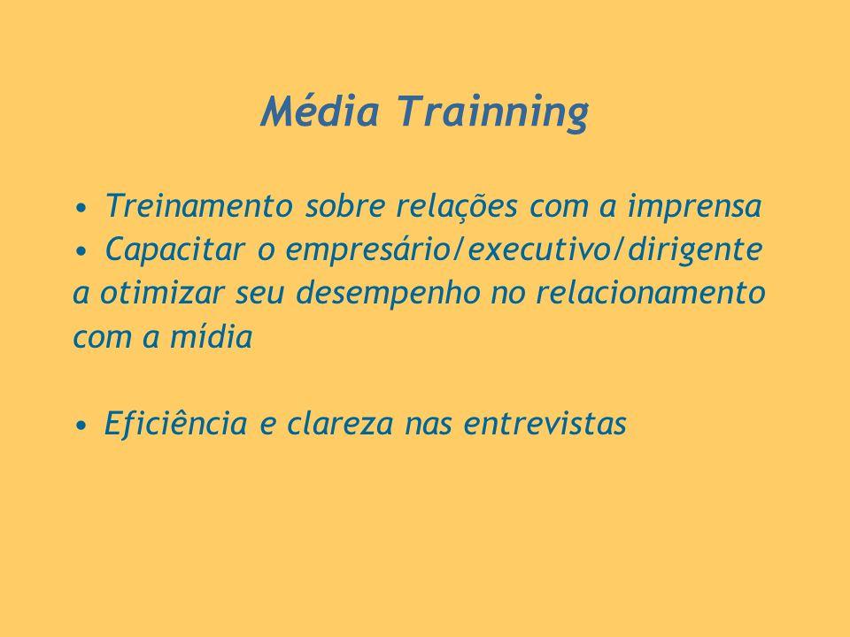 Média Trainning Treinamento sobre relações com a imprensa