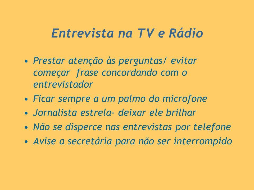 Entrevista na TV e Rádio