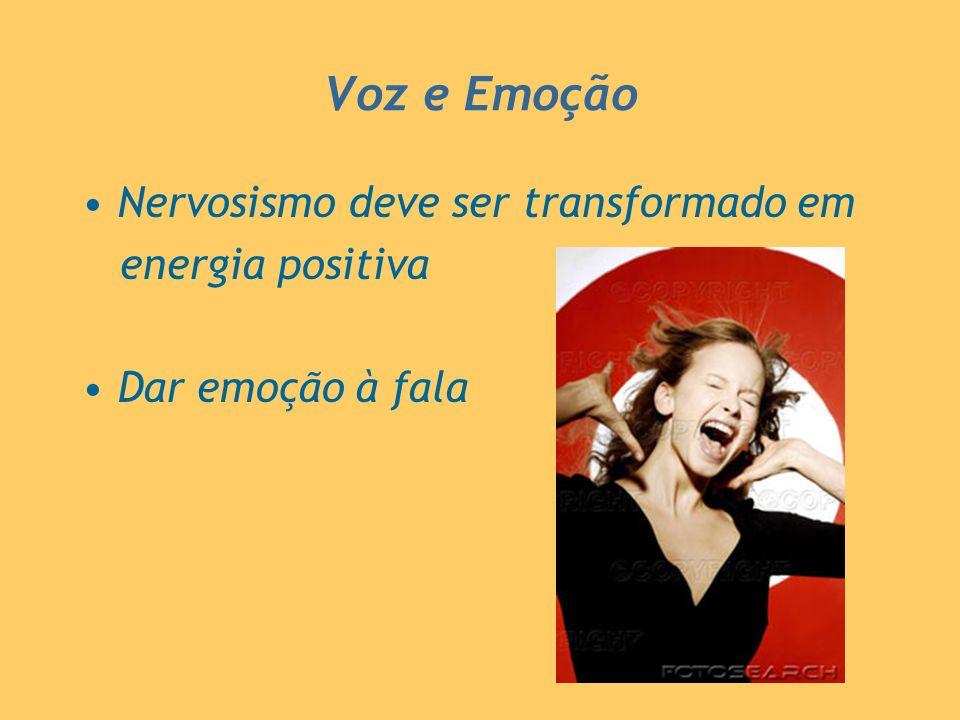 Voz e Emoção Nervosismo deve ser transformado em energia positiva