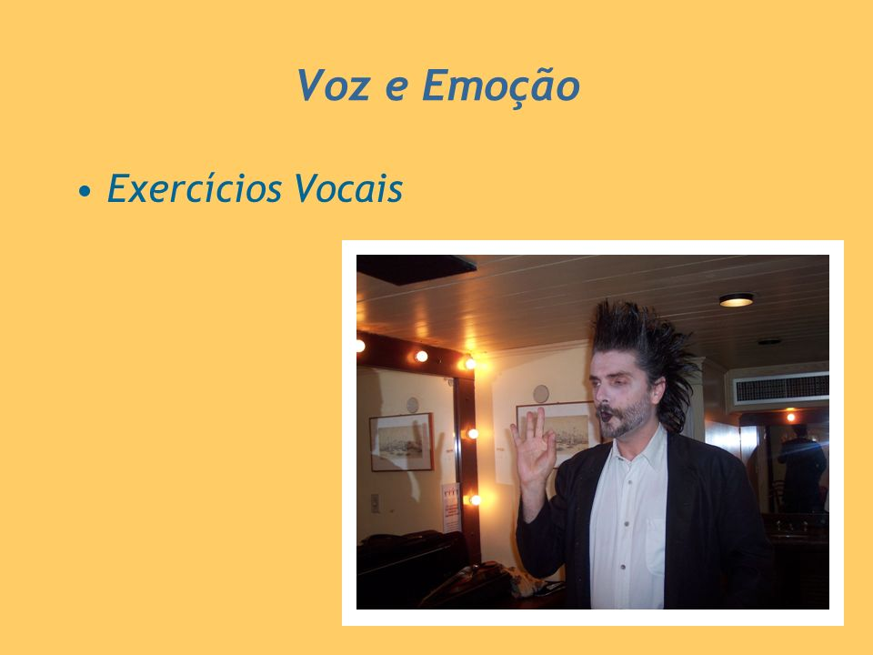 Voz e Emoção Exercícios Vocais