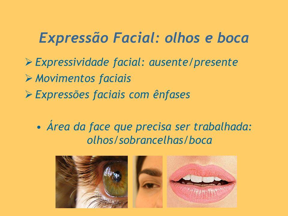 Expressão Facial: olhos e boca