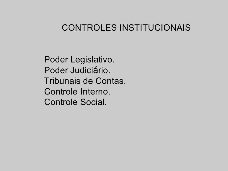 CONTROLES INSTITUCIONAIS