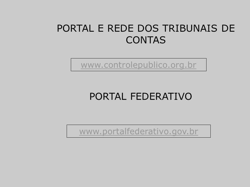 PORTAL E REDE DOS TRIBUNAIS DE CONTAS