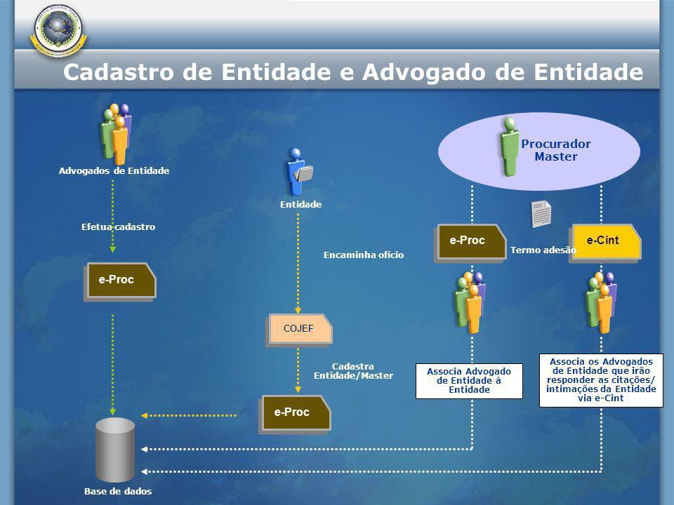 Cadastra Entidade/Master Associa Advogado de Entidade à Entidade