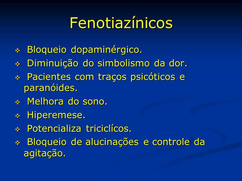 Fenotiazínicos Bloqueio dopaminérgico.