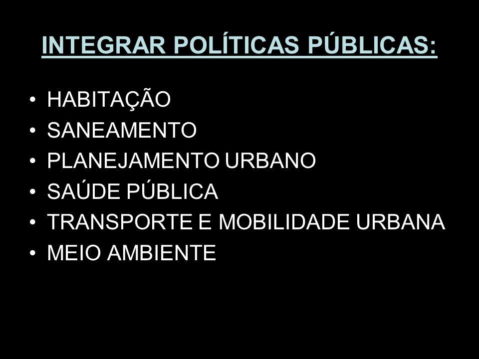 INTEGRAR POLÍTICAS PÚBLICAS: