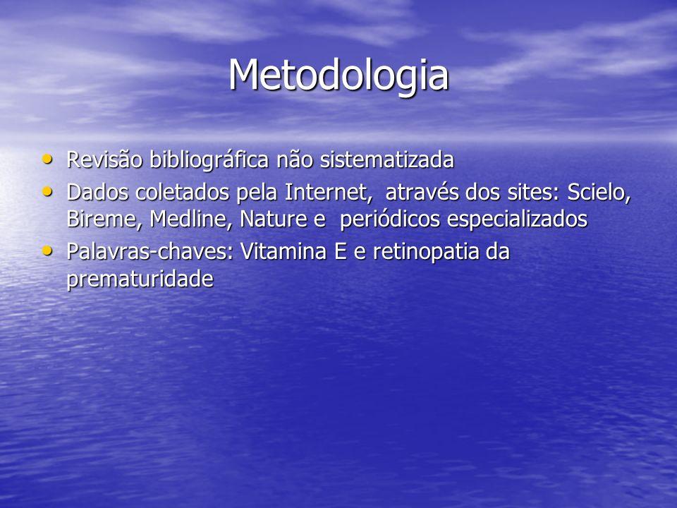 Metodologia Revisão bibliográfica não sistematizada