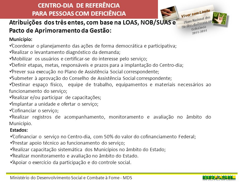 CENTRO-DIA DE REFERÊNCIA PARA PESSOAS COM DEFICIÊNCIA