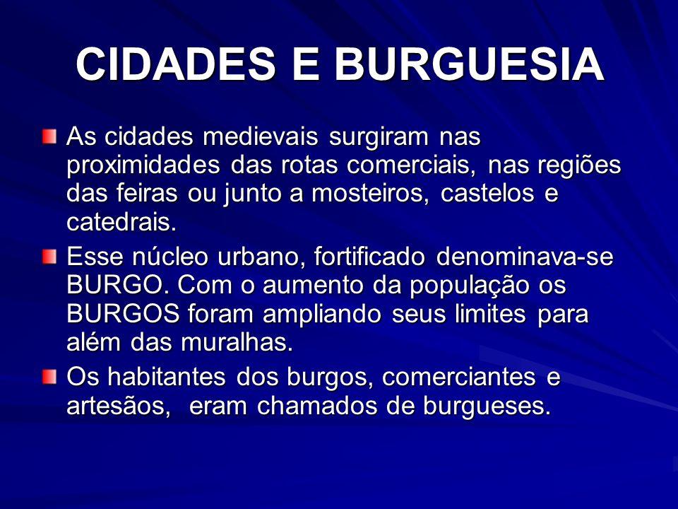 CIDADES E BURGUESIA