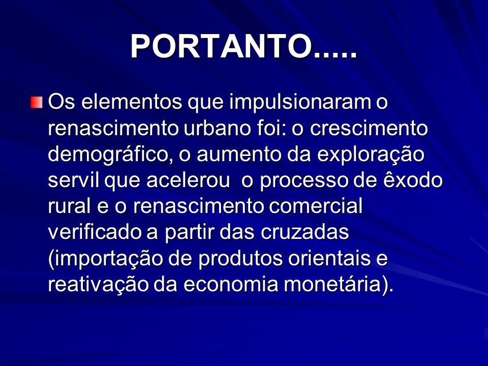 PORTANTO.....