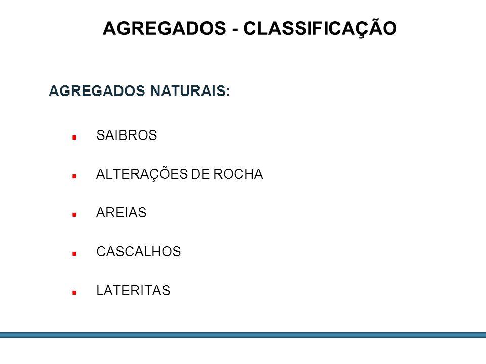AGREGADOS - CLASSIFICAÇÃO
