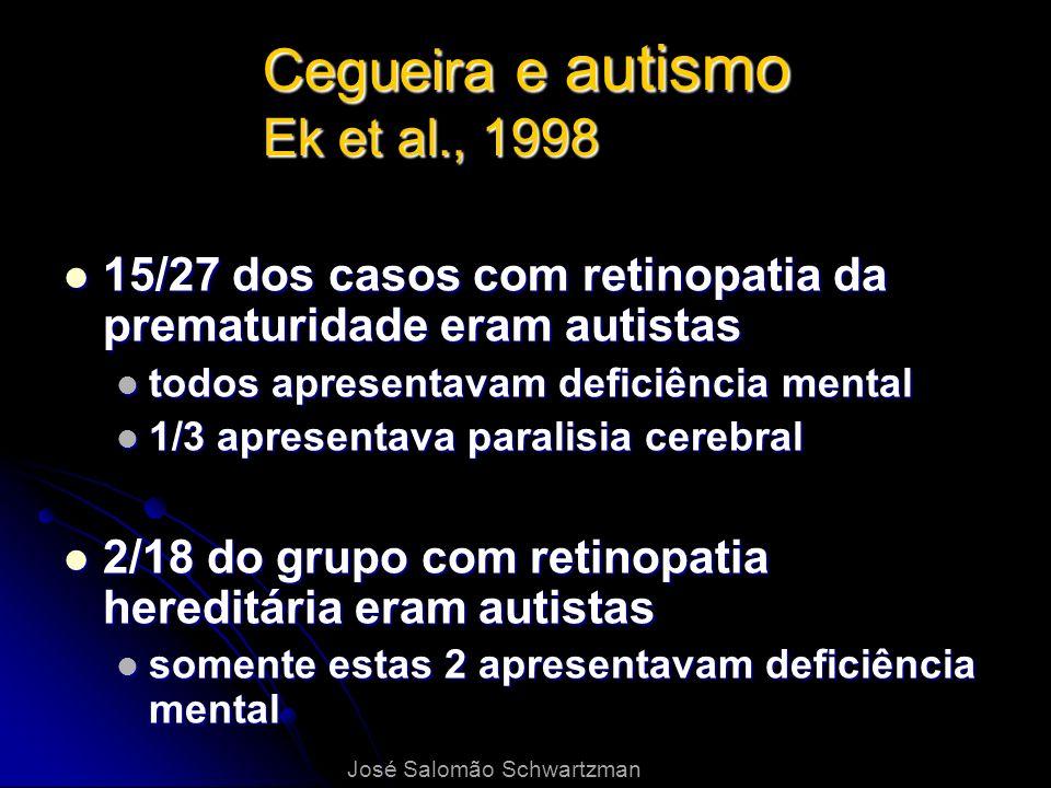 Cegueira e autismo Ek et al., 1998