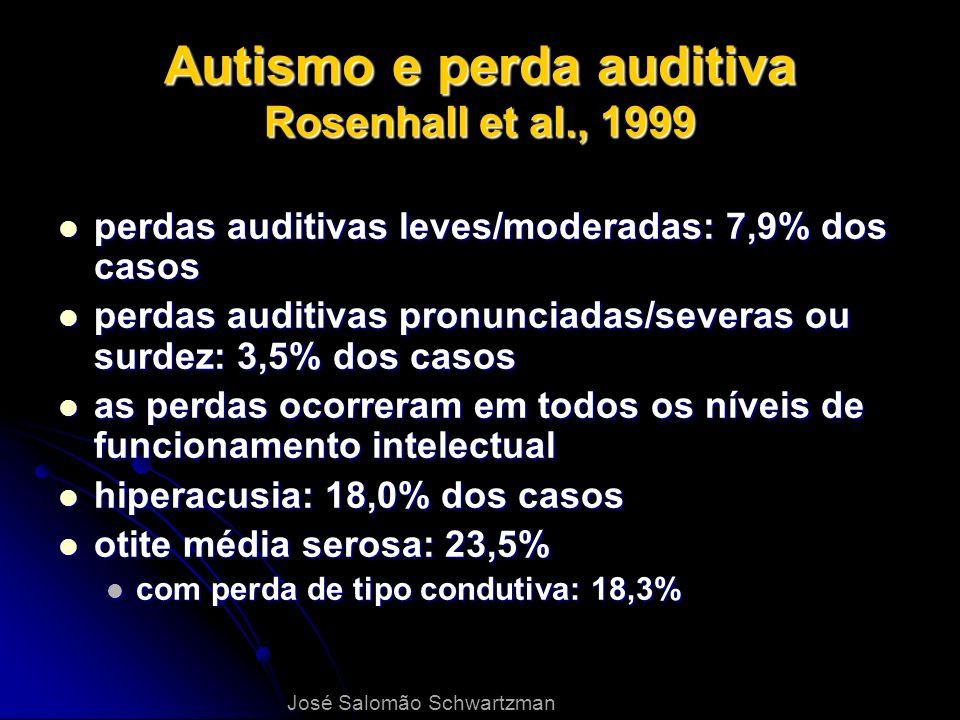 Autismo e perda auditiva Rosenhall et al., 1999