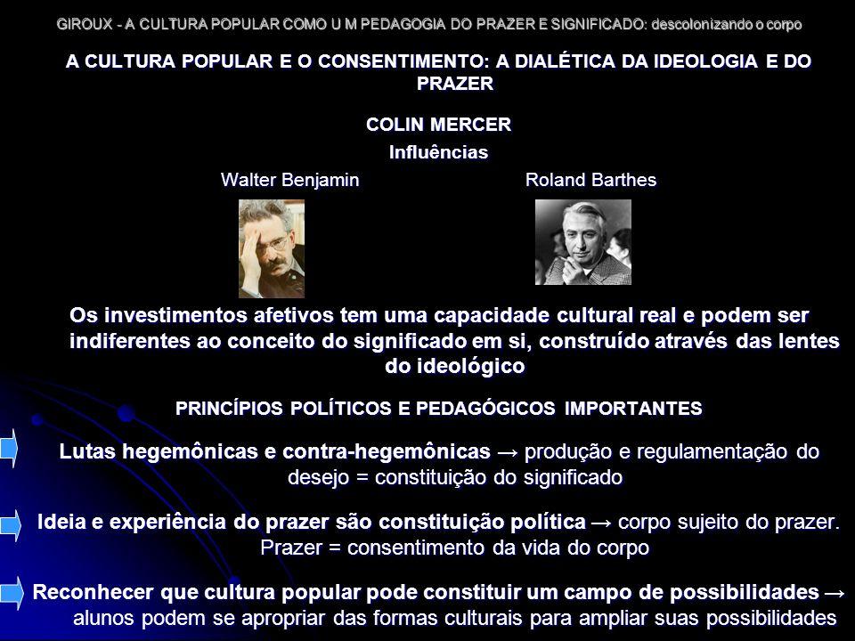 PRINCÍPIOS POLÍTICOS E PEDAGÓGICOS IMPORTANTES