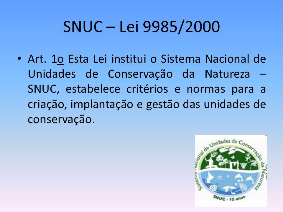 SNUC – Lei 9985/2000
