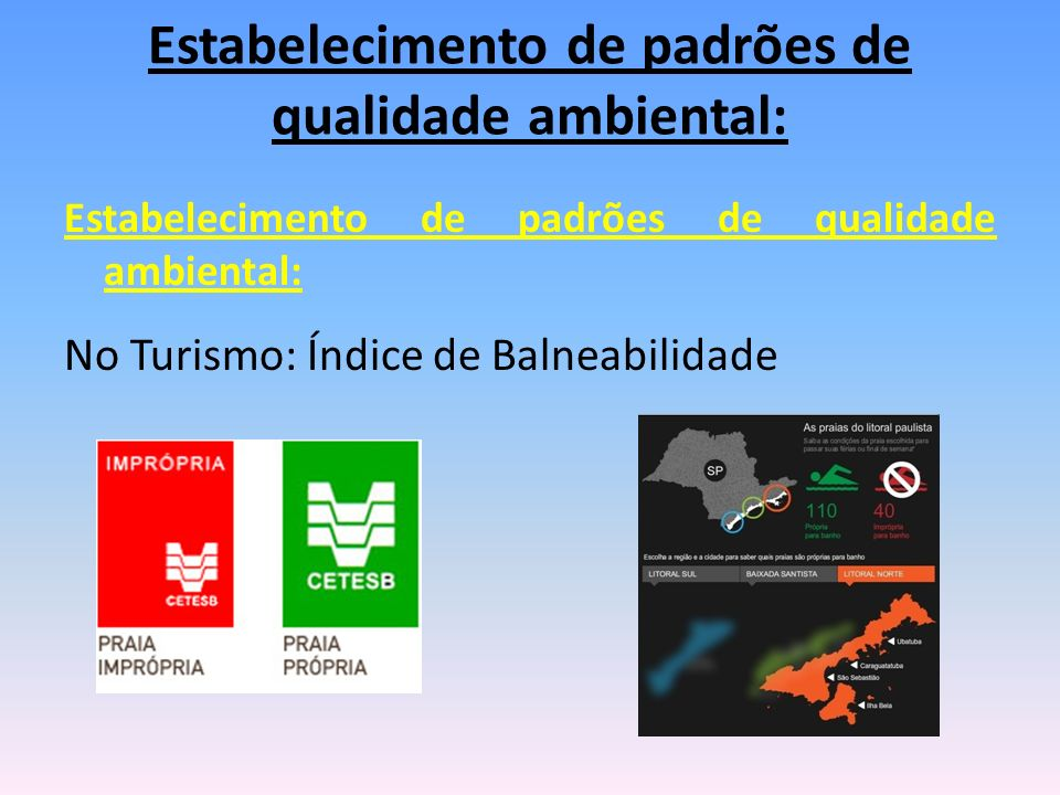 Estabelecimento de padrões de qualidade ambiental: