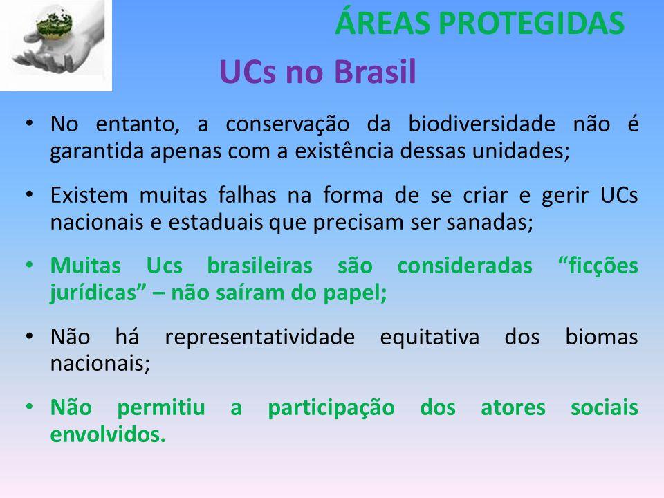 UCs no Brasil ÁREAS PROTEGIDAS