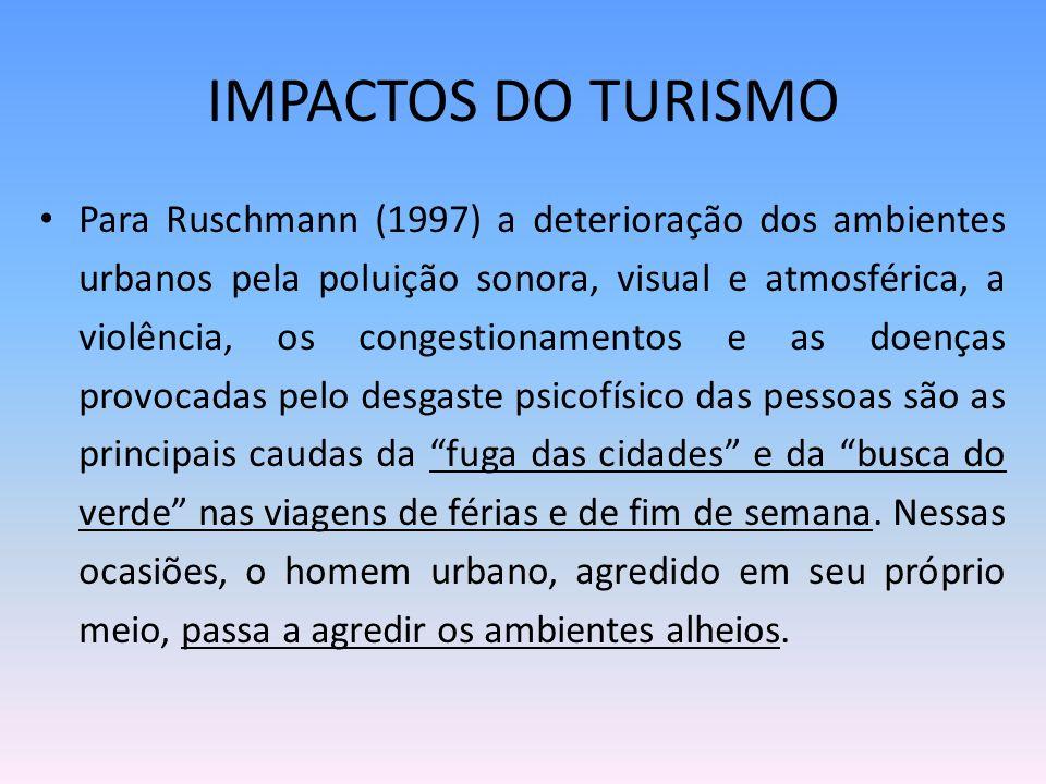 IMPACTOS DO TURISMO