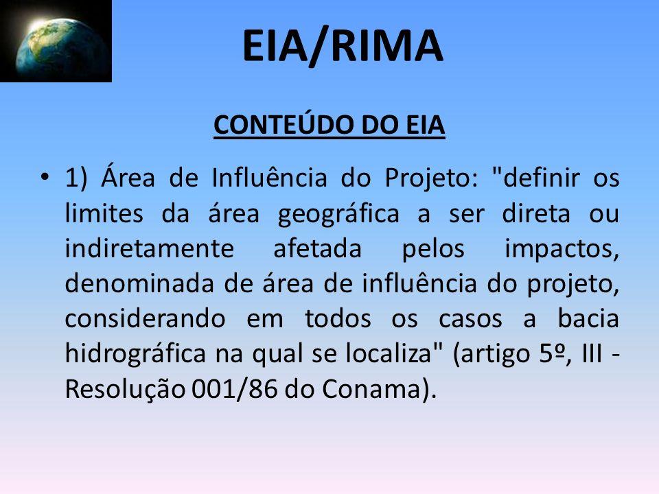 EIA/RIMA CONTEÚDO DO EIA