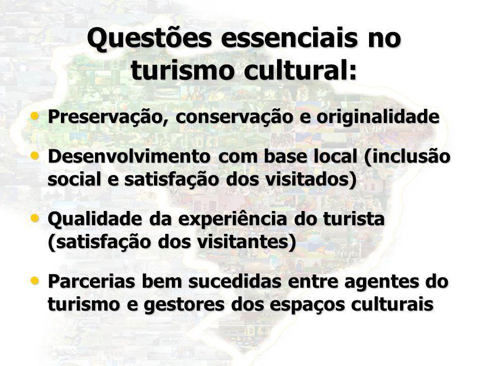 Questões essenciais no turismo cultural: