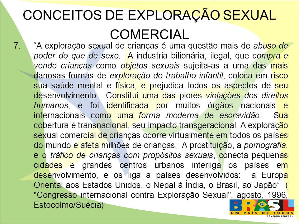 CONCEITOS DE EXPLORAÇÃO SEXUAL COMERCIAL