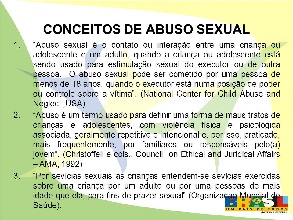 CONCEITOS DE ABUSO SEXUAL