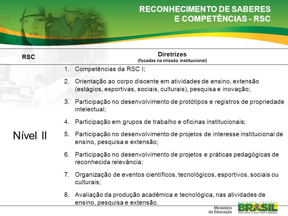 RECONHECIMENTO DE SABERES E COMPETÊNCIAS - RSC