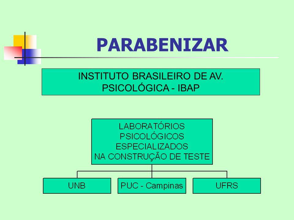 INSTITUTO BRASILEIRO DE AV. PSICOLÓGICA - IBAP