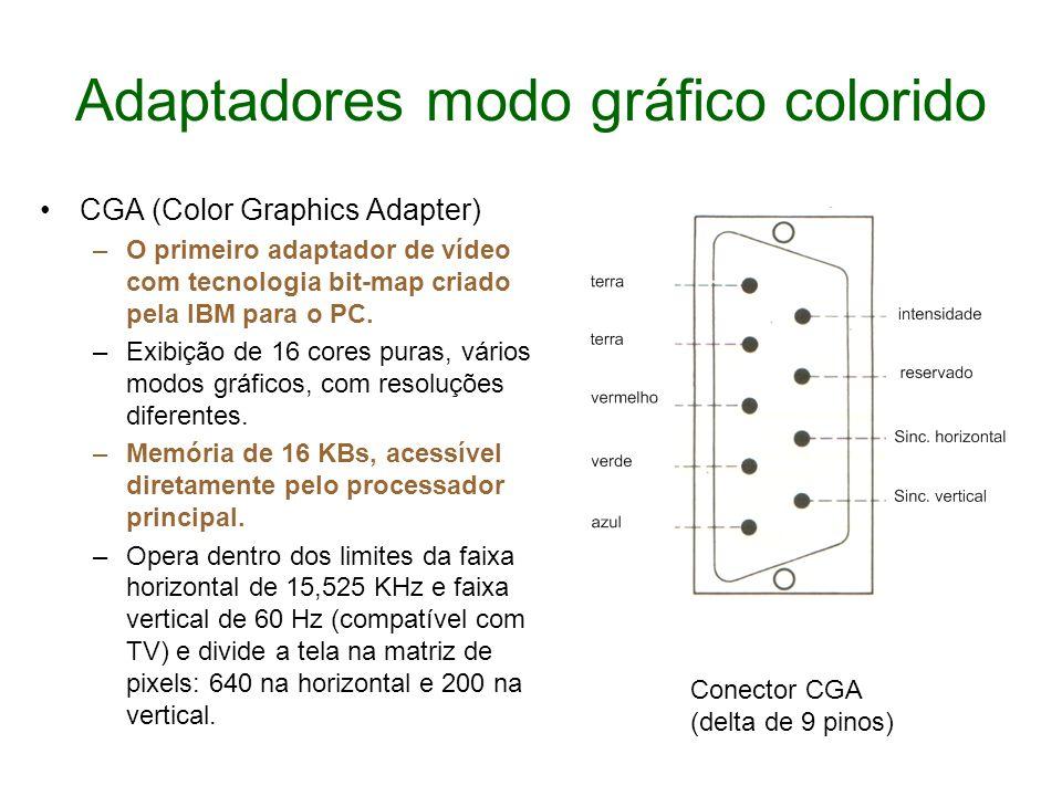 Adaptadores modo gráfico colorido