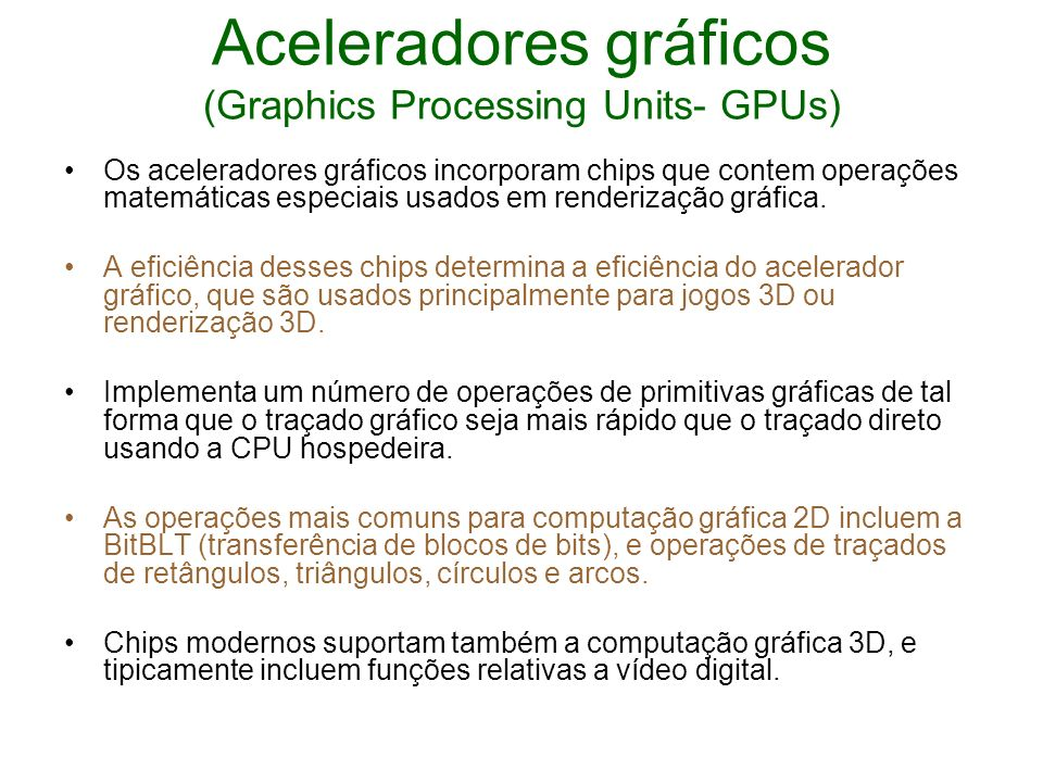 Aceleradores gráficos (Graphics Processing Units- GPUs)