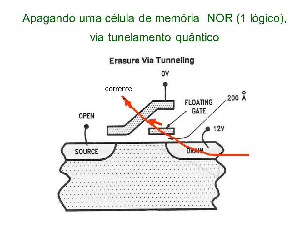 Apagando uma célula de memória NOR (1 lógico), via tunelamento quântico