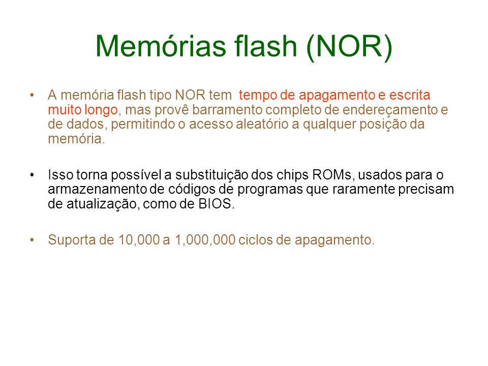 Memórias flash (NOR)