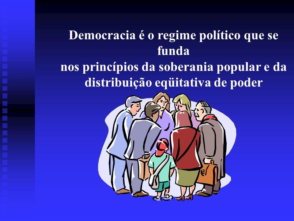 Democracia é o regime político que se funda