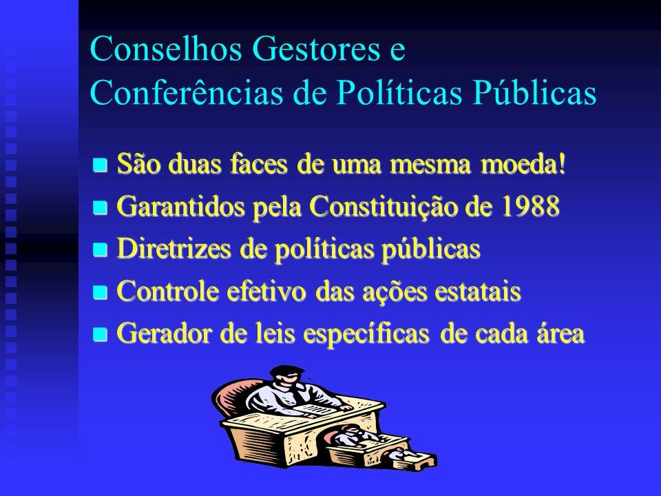 Conselhos Gestores e Conferências de Políticas Públicas