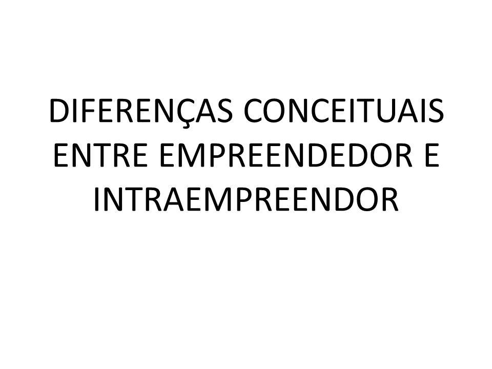 DIFERENÇAS CONCEITUAIS ENTRE EMPREENDEDOR E INTRAEMPREENDOR