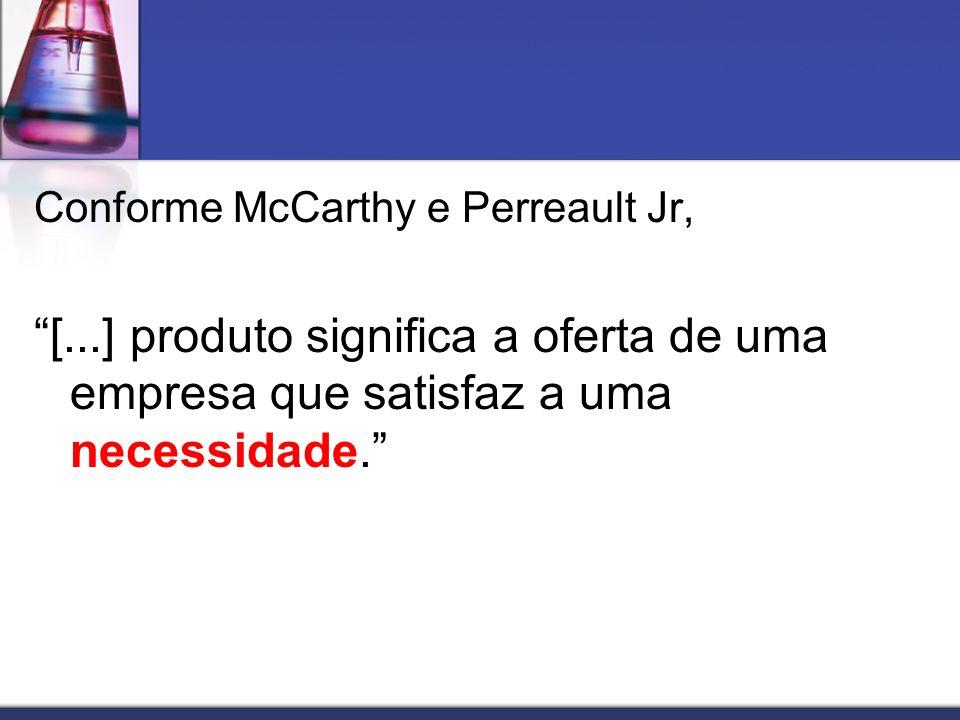 Conforme McCarthy e Perreault Jr,